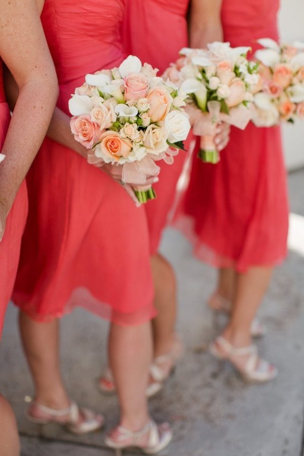 Peach And Coral Colored Flowers Three Color Combo 39 S For Coral